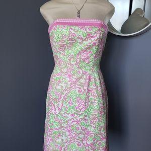 "Vintage ""Lilly Pulitzer"" size 6 Strapless Dress"